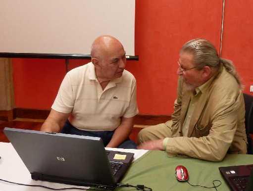 Con Joaquin Pérez Arriaga. Villafranca. Extremadura, 2010