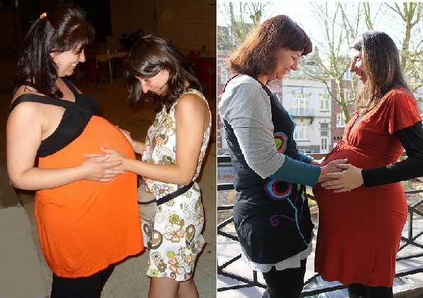 Hermanas embarazadas. 7 años de diferencia, 2007/2014