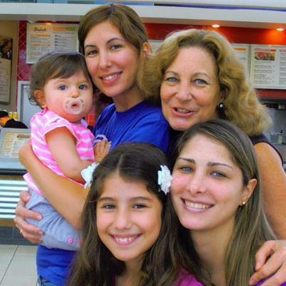 Grimaneza Granda y familia. Lima