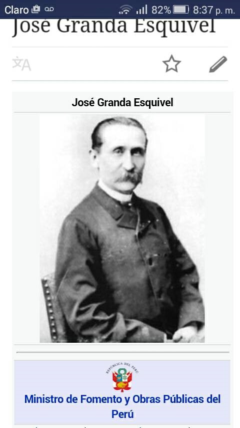 El bisabuelo José de la Granda y Esquivel