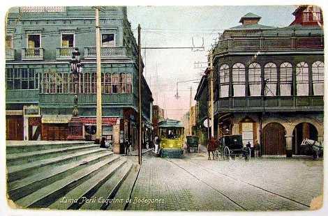 Centro de Lima a principios de siglo. (Perú)