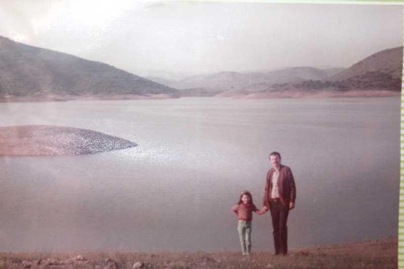 Rosita y yo. Sierra Norte de Sevilla, 1982